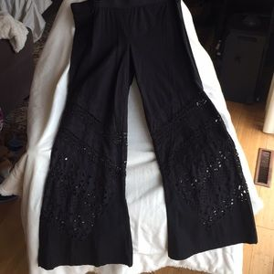 XCVI 96% Cotton4%Spandex Embroidered Pants New
